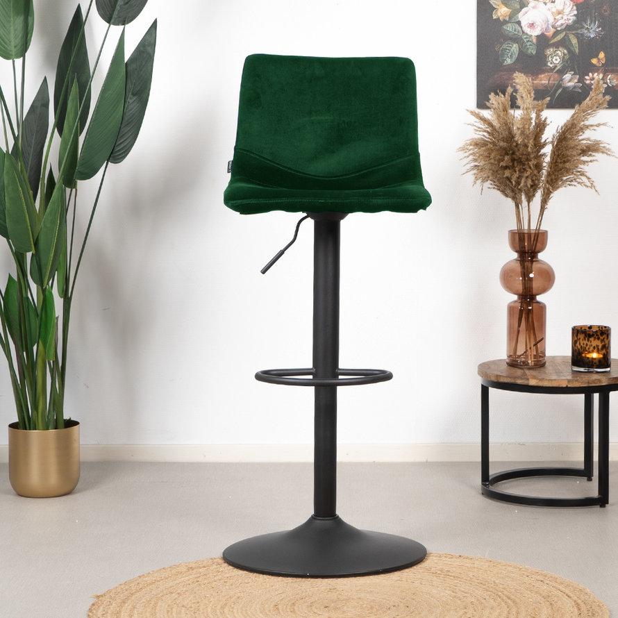 Velvet barkruk Frenkie groen 59-76 cm