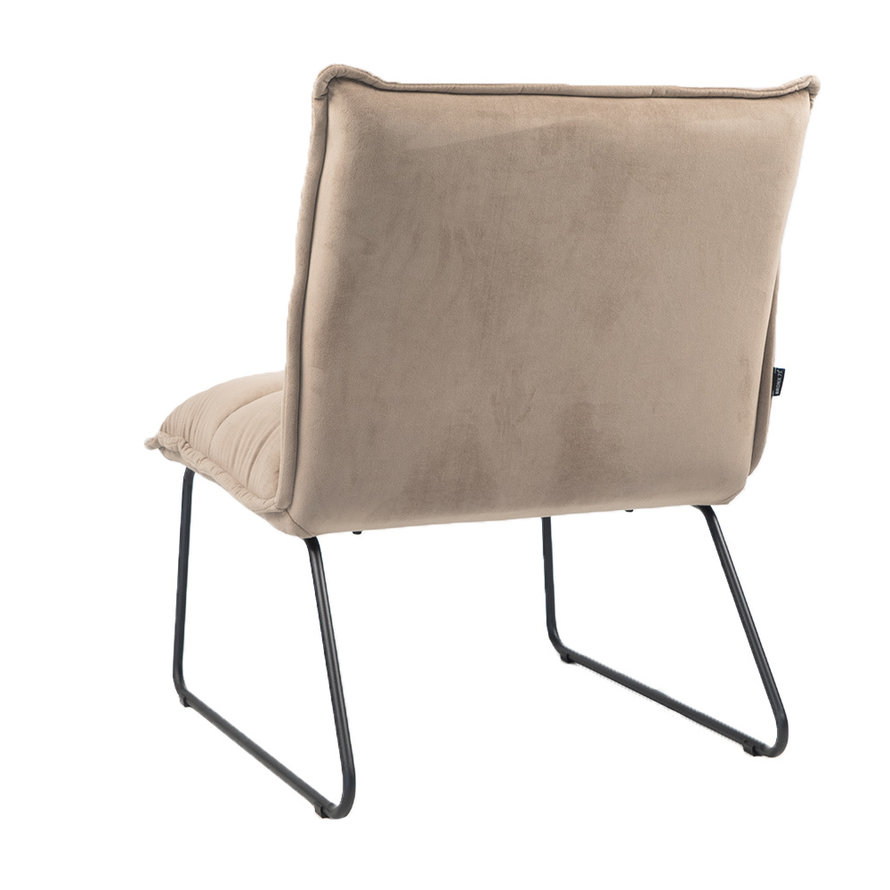 Velvet fauteuil Malaga taupe