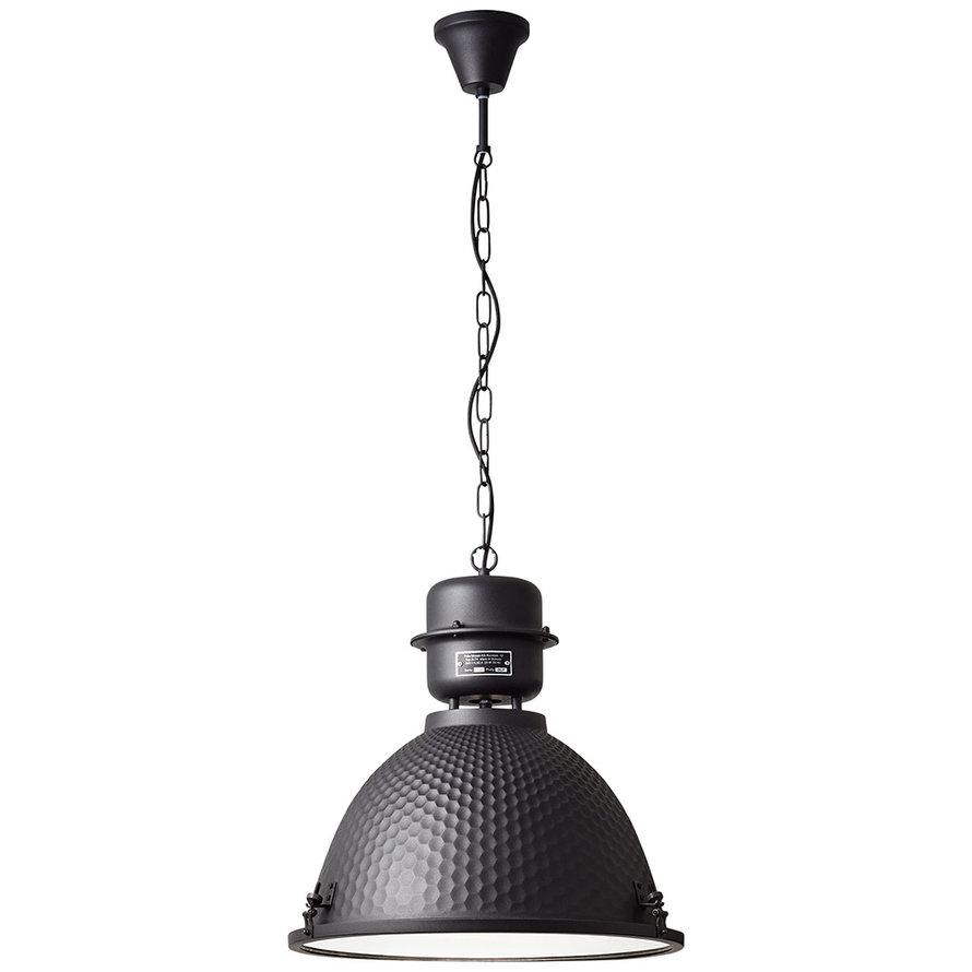 Industriële hanglamp Sina 1-lichts metaal zwart
