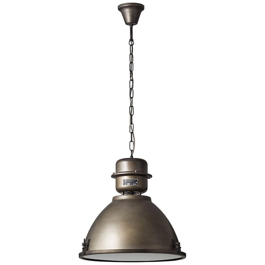 Industriële hanglamp Sina 1-lichts metaal oud zilver