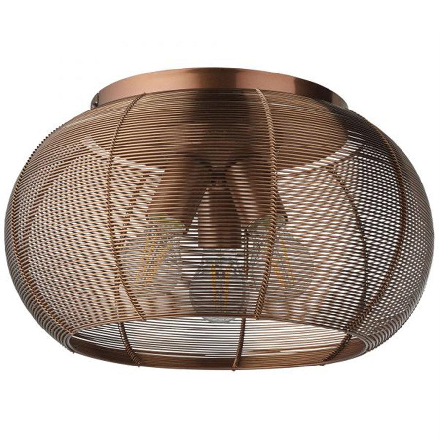 Plafondlamp Yaiza 3-lichts bruin