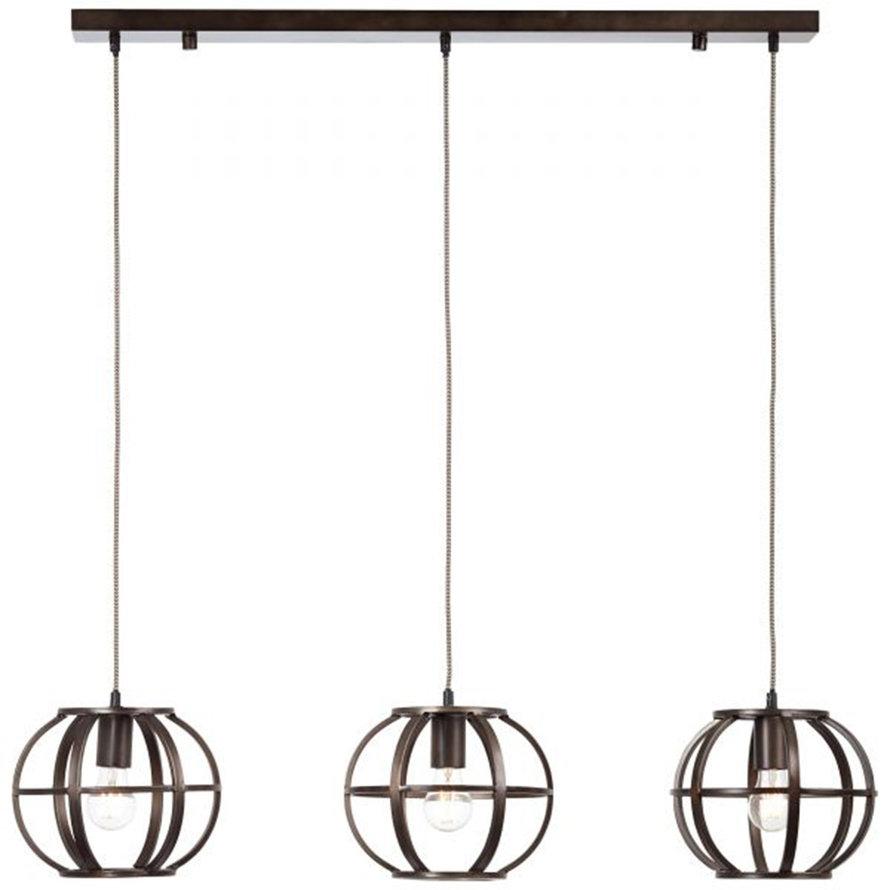 Industriële hanglamp Insa 3-lichts zwart