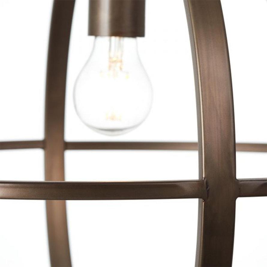 Industriële hanglamp Insa 1-lichts zwart