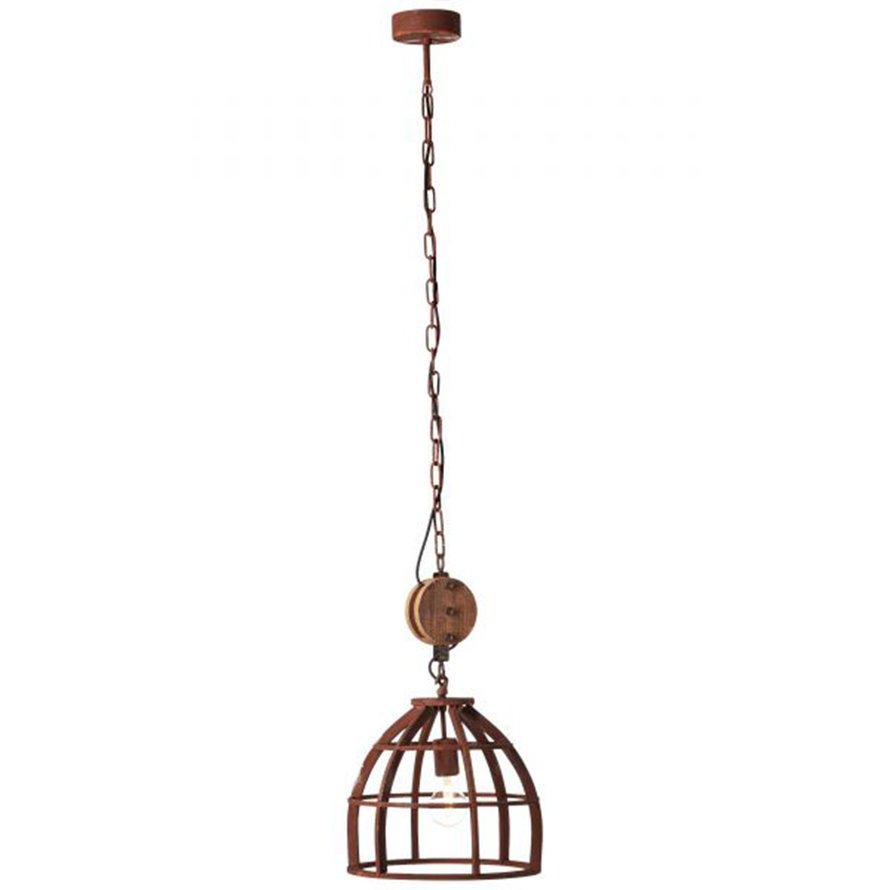 Industriële hanglamp Lea 1-lichts Ø34 cm roest