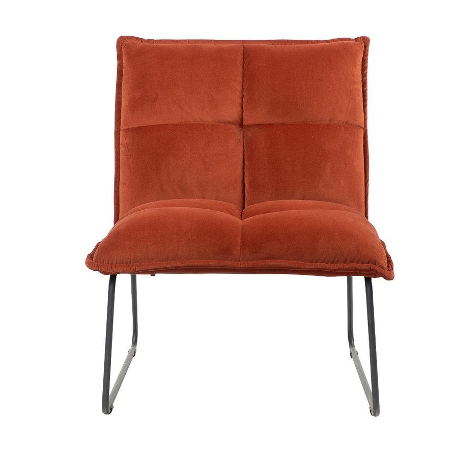Velvet fauteuil Malaga koper