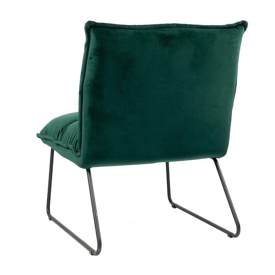 Velvet fauteuil Malaga donkergroen