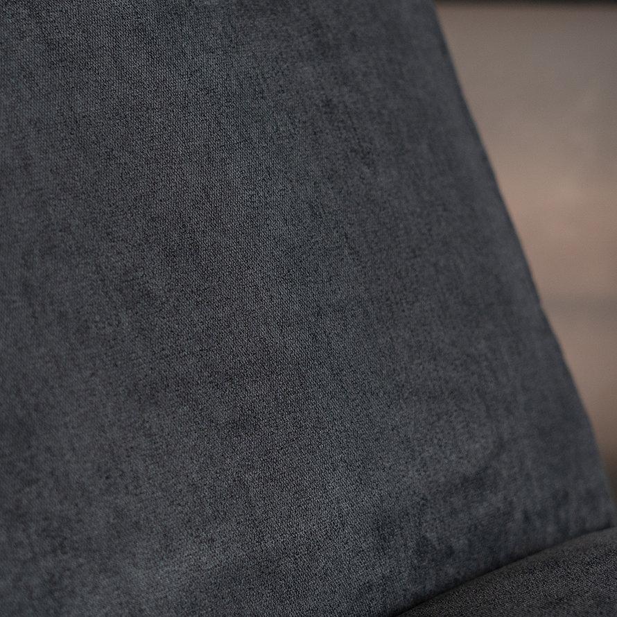 Scandinavische fauteuil Merle zwart stof gemêleerd