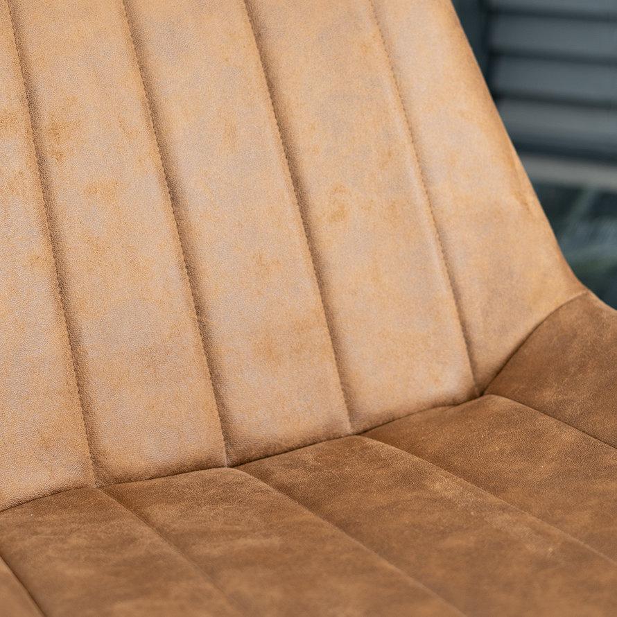 Industriële barkruk Brooke cognac 72 cm