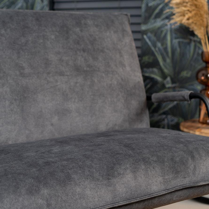 Velvet fauteuil Ohio zwart