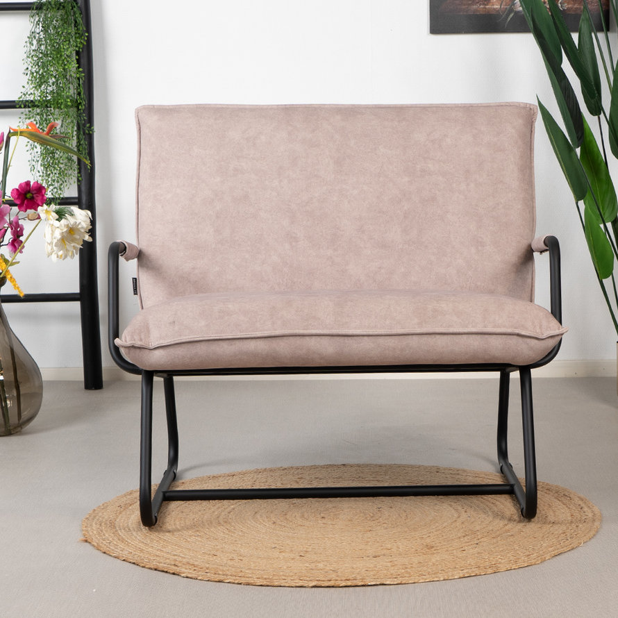 Velvet fauteuil Ohio taupe