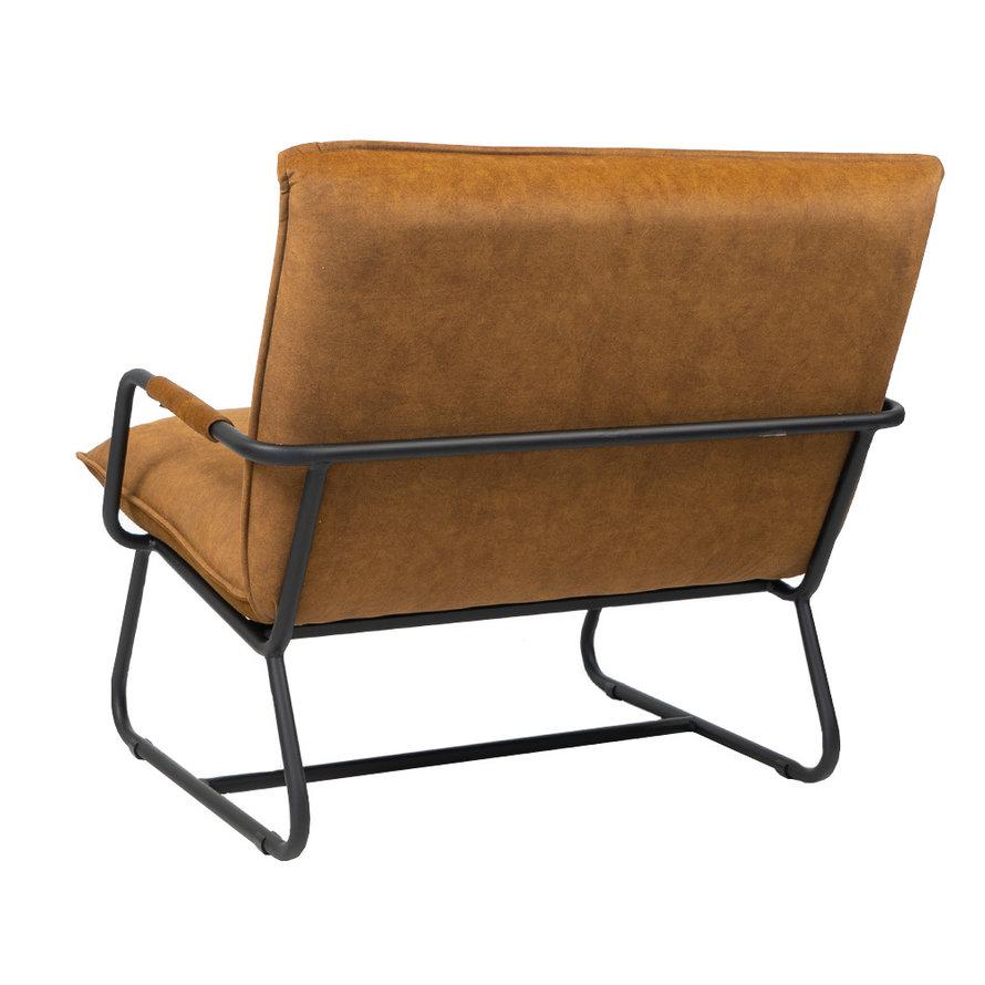 Velvet fauteuil Ohio okergeel