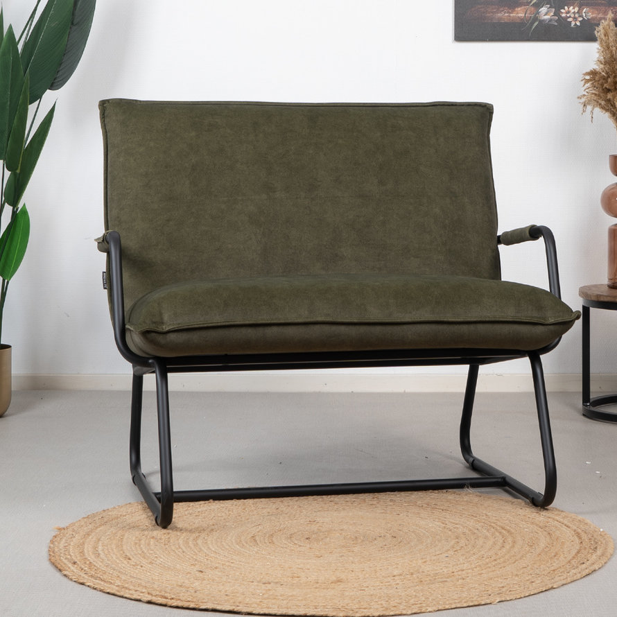 Velvet fauteuil Ohio groen