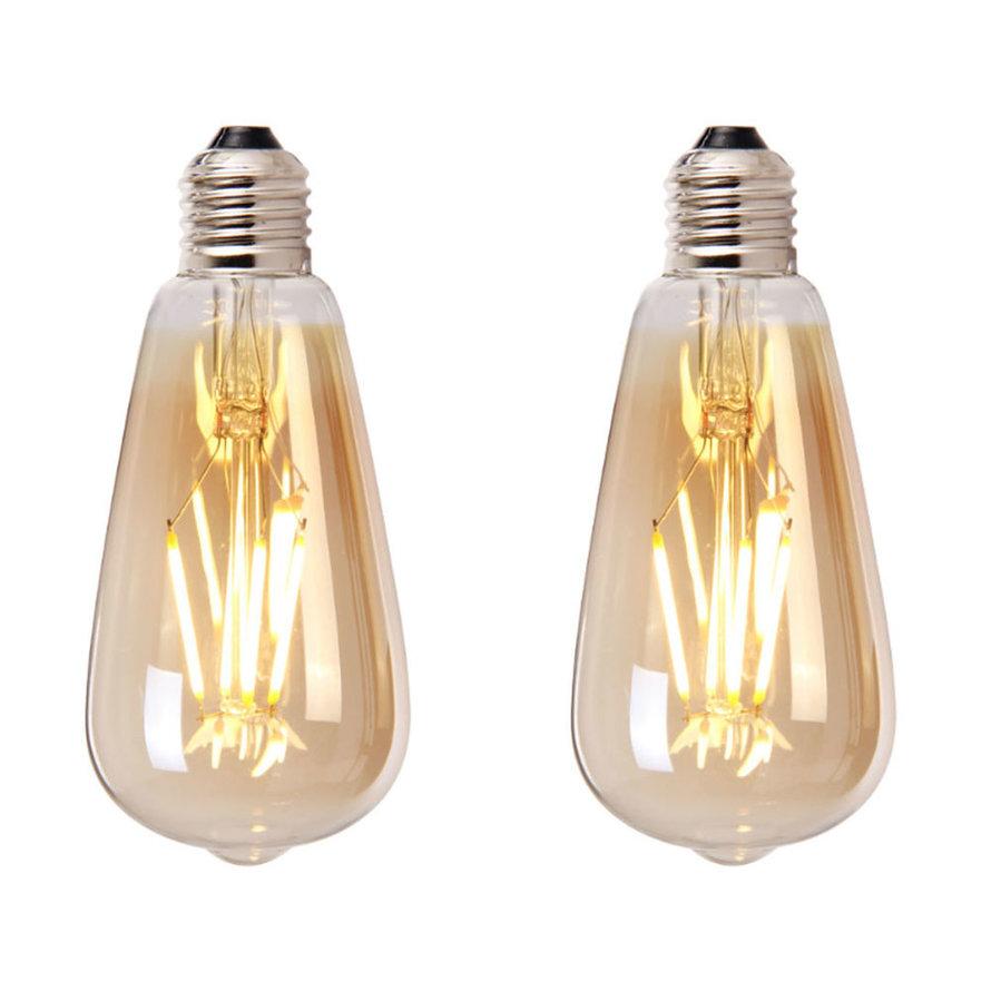 Lichtbron LED druppel 14,5 cm (set van 2) gold