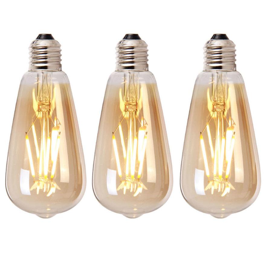 Lichtbron LED druppel 14,5 cm (set van 3) gold