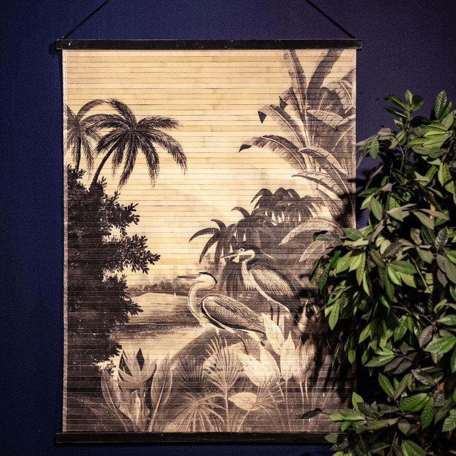 Wanddecoratie Mia jungle bamboe large