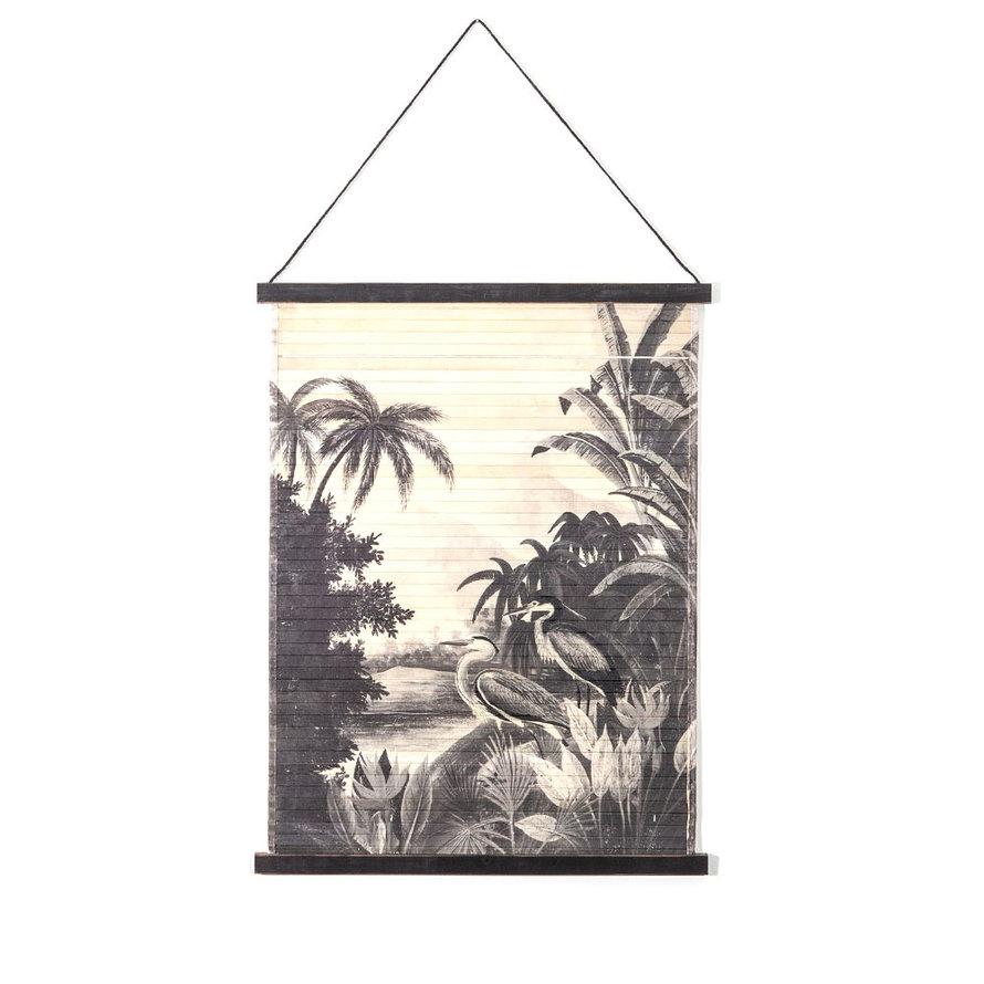 Wanddecoratie Mia jungle bamboe small
