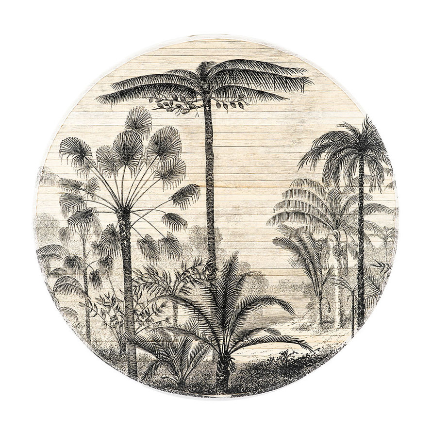 Wanddecoratie Rita forest rond bamboe large