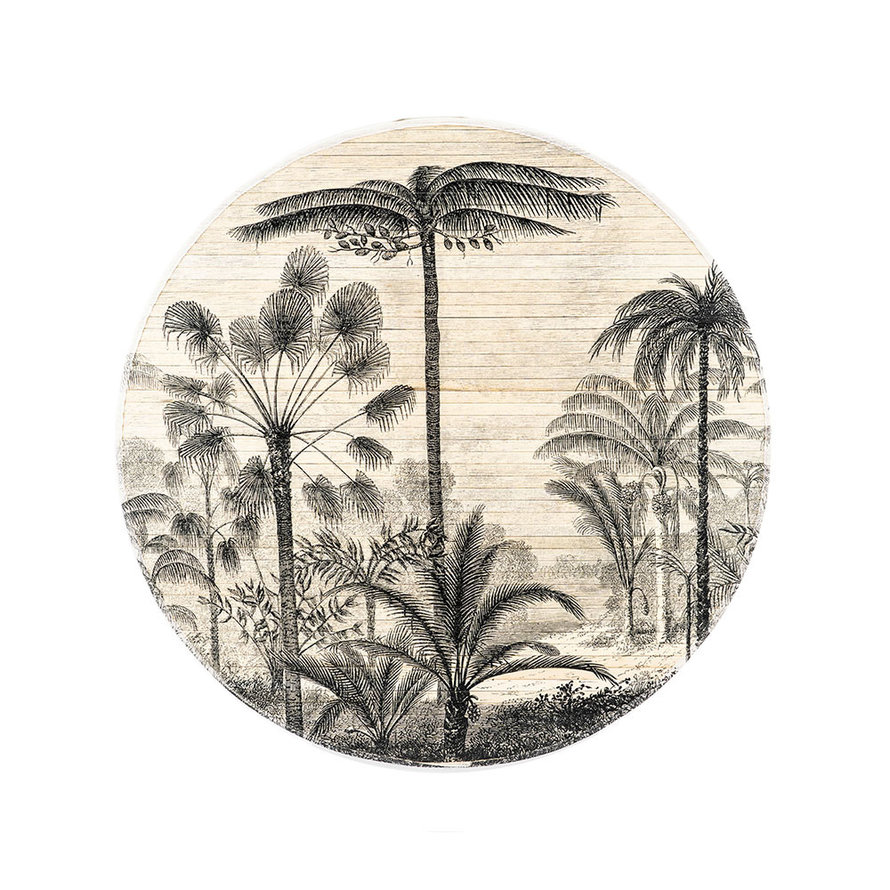 Wanddecoratie Rita forest rond bamboe small