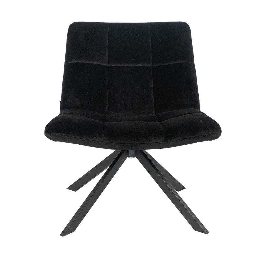 Velvet fauteuil Eevi zwart