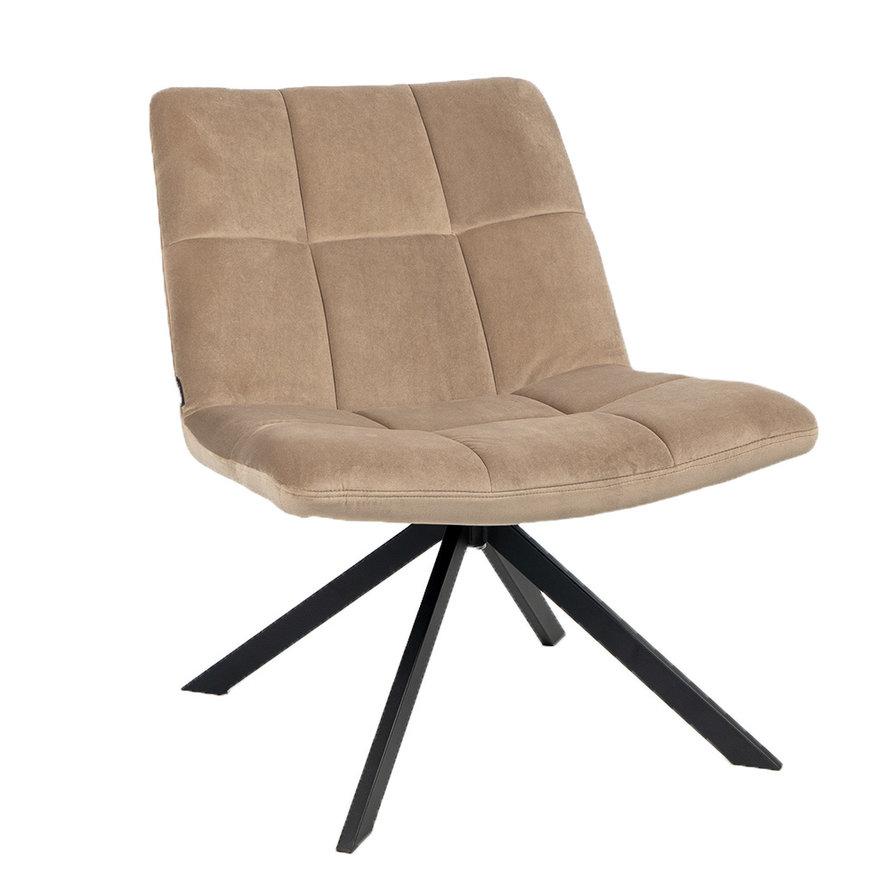 Velvet fauteuil Eevi taupe