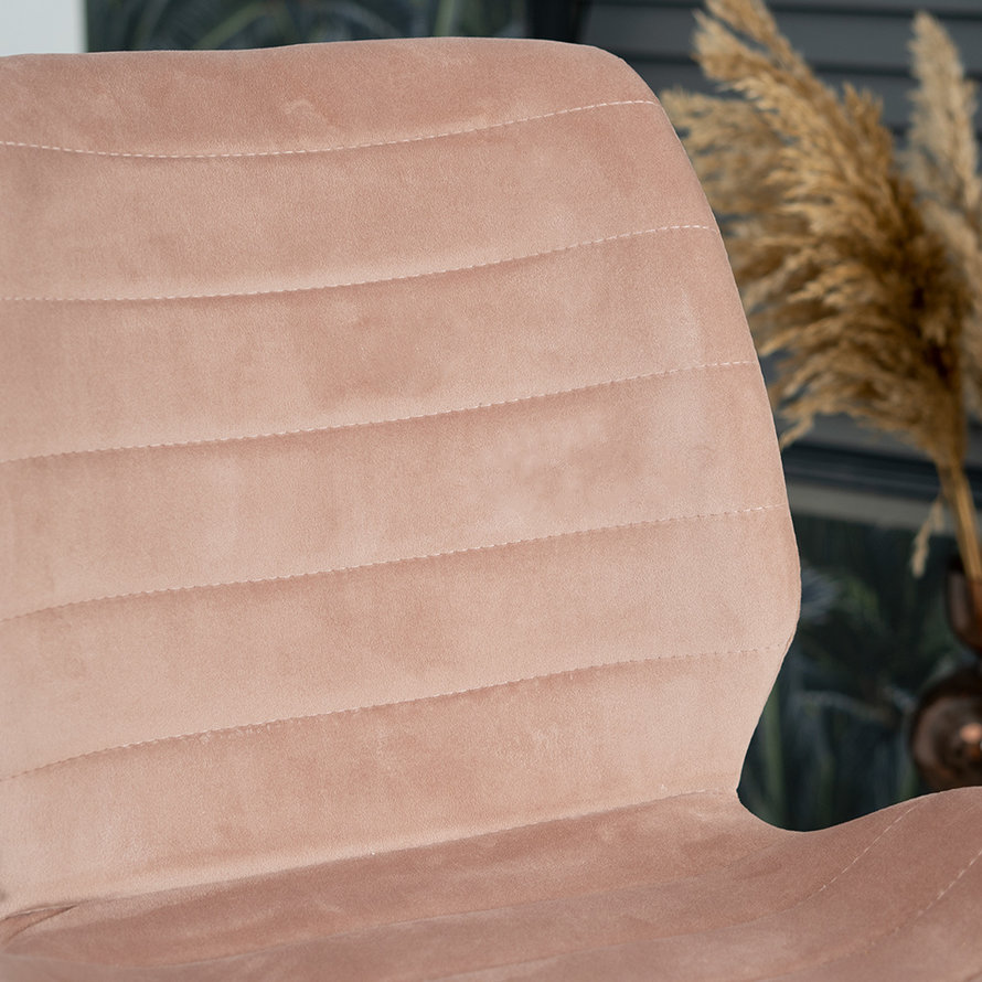 Velvet barkruk Toby roze 71 cm