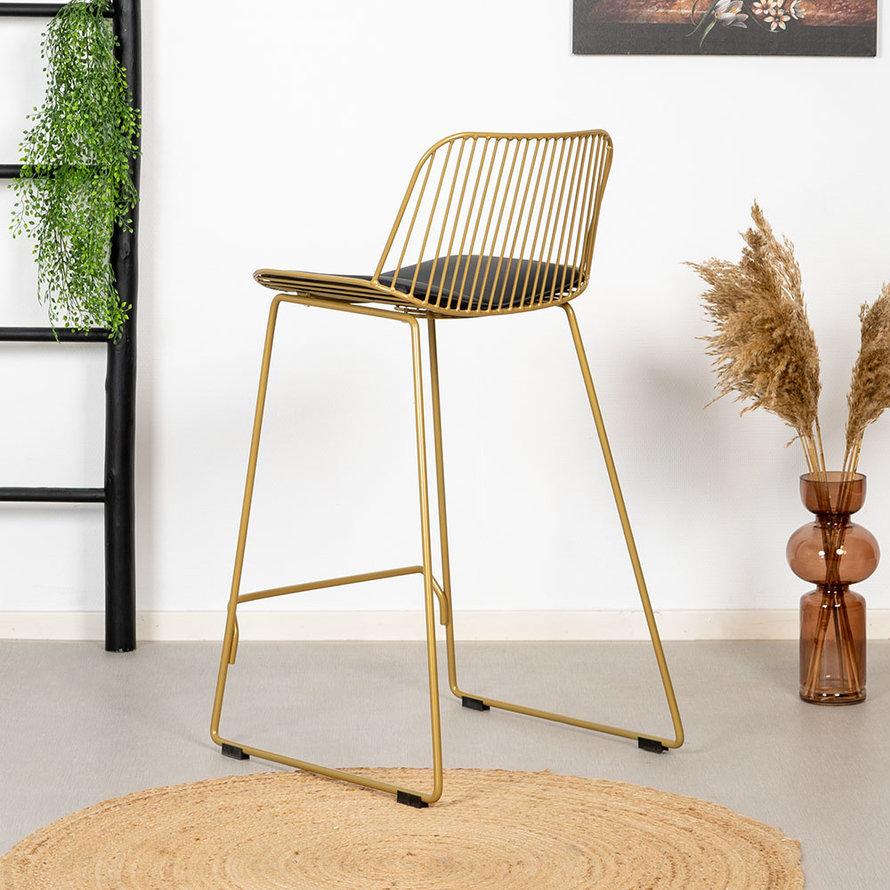 Design barkruk Jenny goud 67 cm