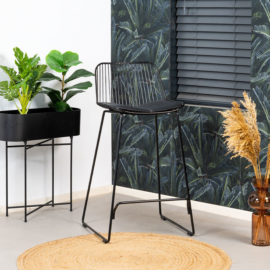 Design barkruk Jenny zwart 67 cm
