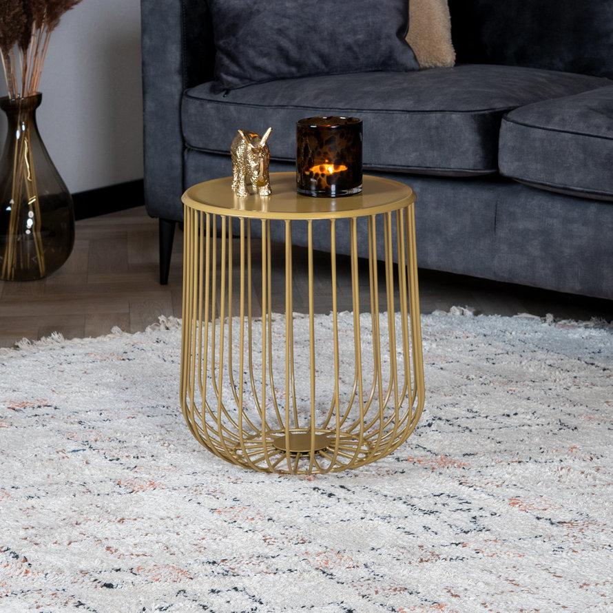 Salontafel Tygo goud metaal