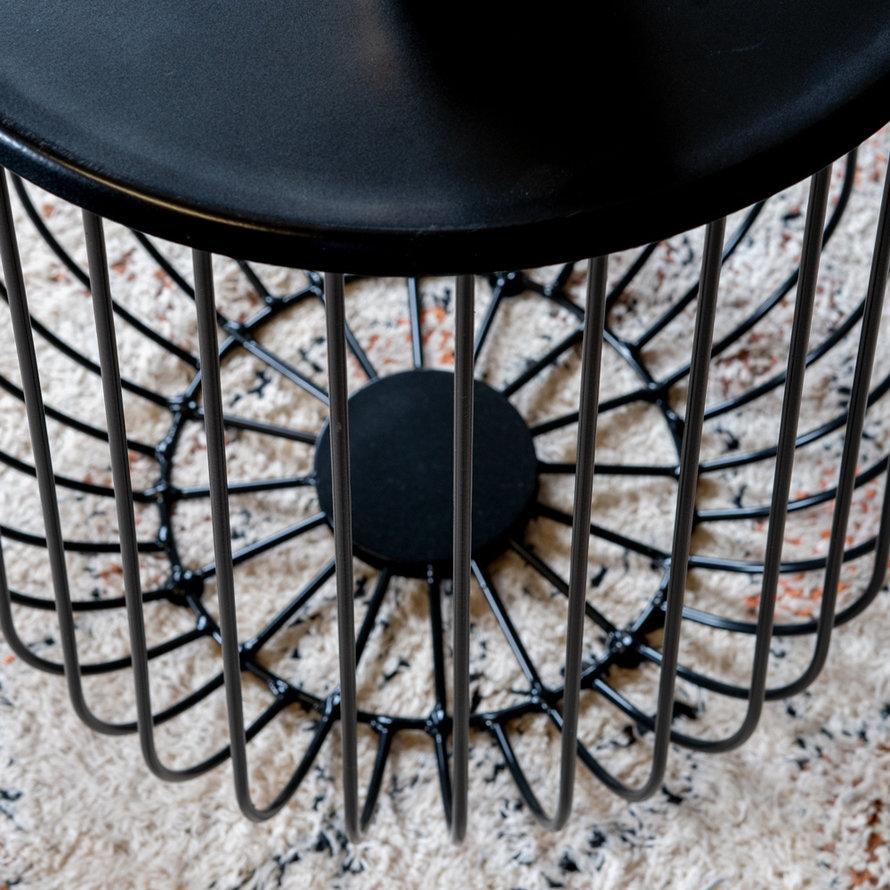 Salontafel Tygo zwart metaal