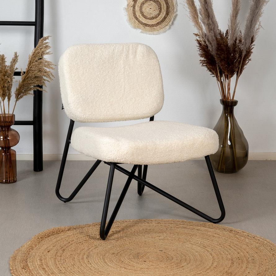 Teddy fauteuil Julia wit