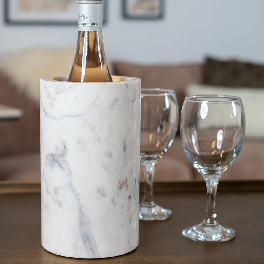 Wijnkoeler marmer Bris wit