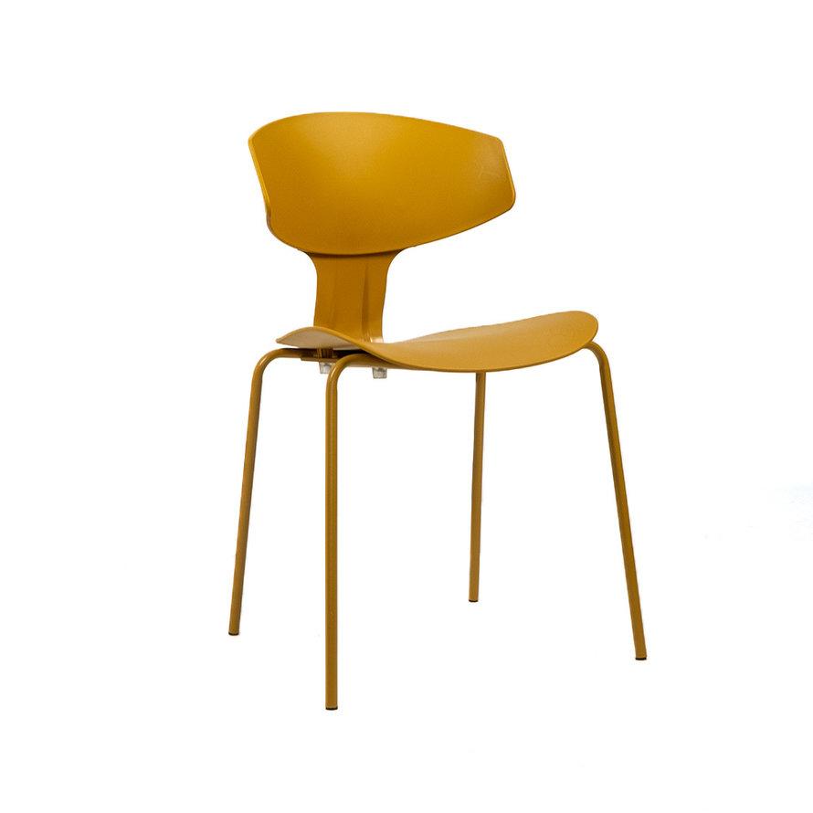 Design eetkamerstoel Mara geel