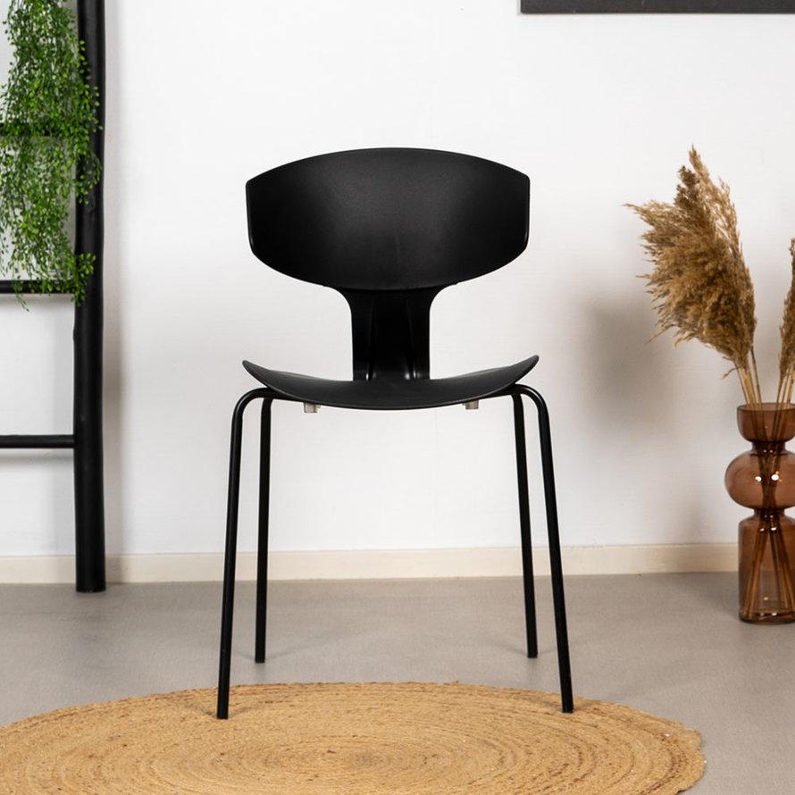 Design eetkamerstoel Mara zwart