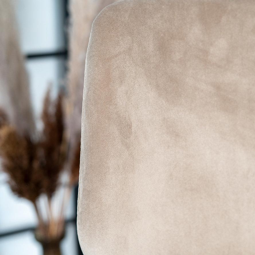Velvet barkruk Miami taupe