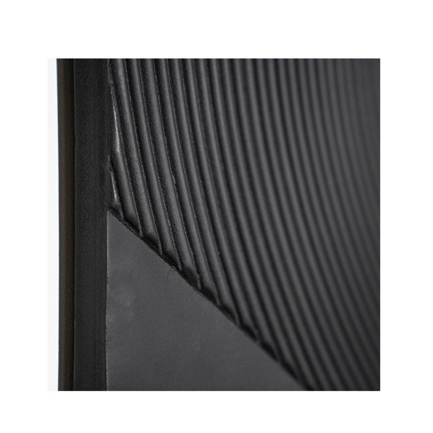 Wanddecoratie Flare zwart vierkant MDF 90x90cm
