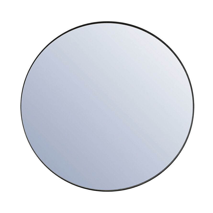 Design spiegel Flex zwart Ø120 cm