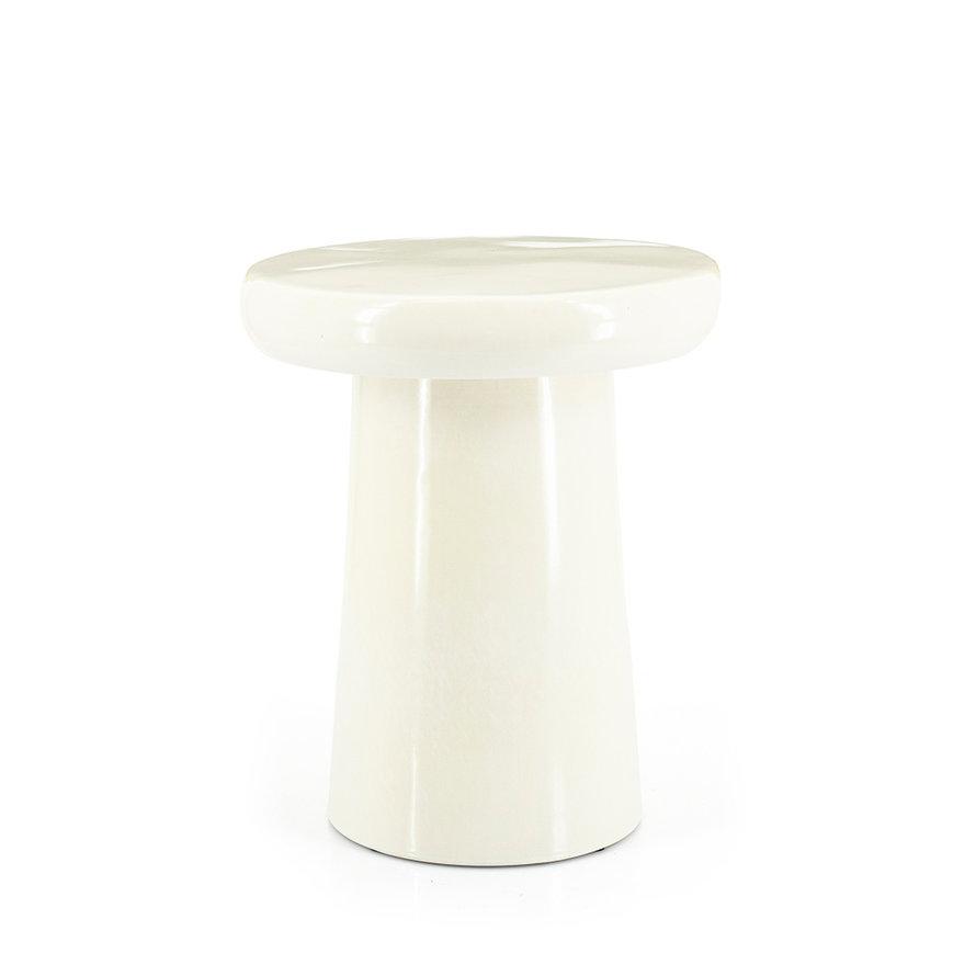 Design bijzettafel Mush keramiek wit