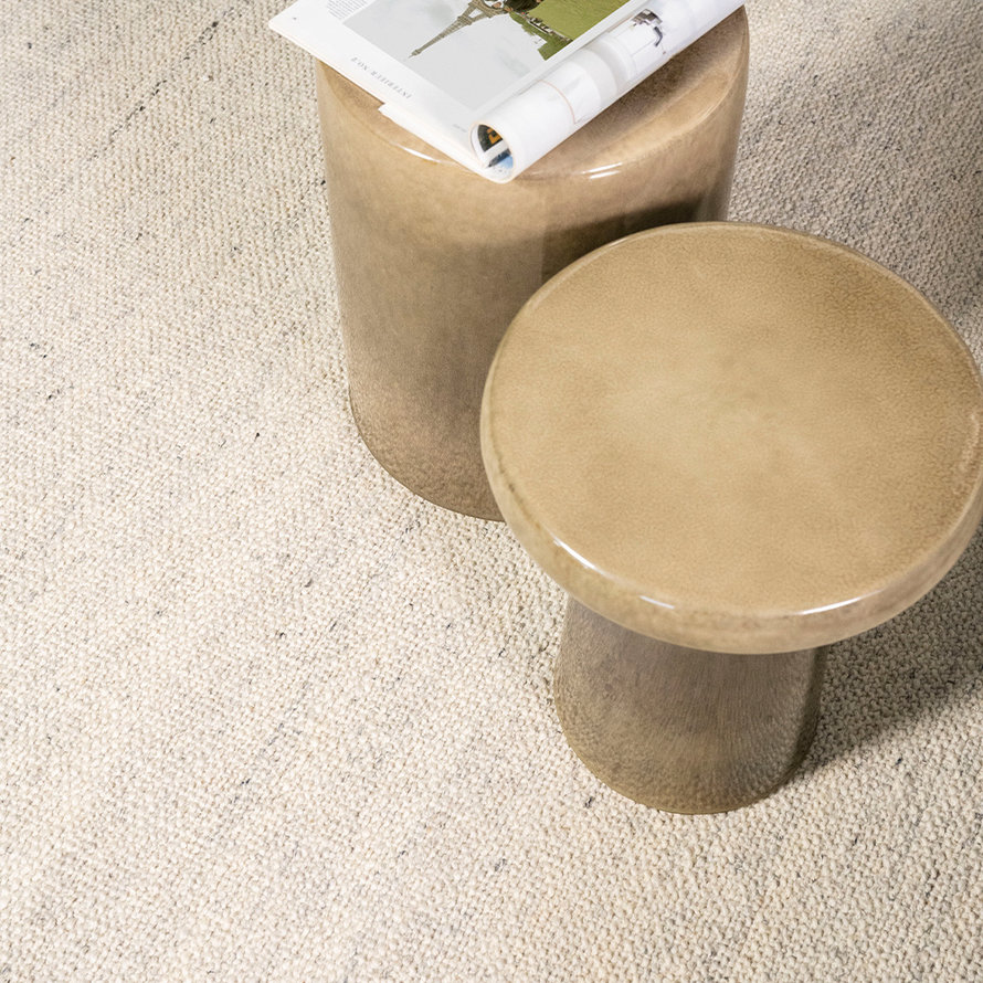 Design bijzettafel Roem keramiek taupe
