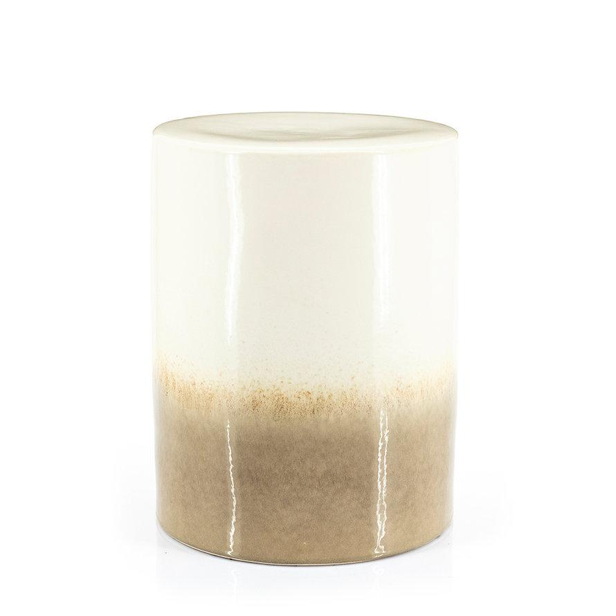 Design bijzettafel Roem keramiek taupe/wit