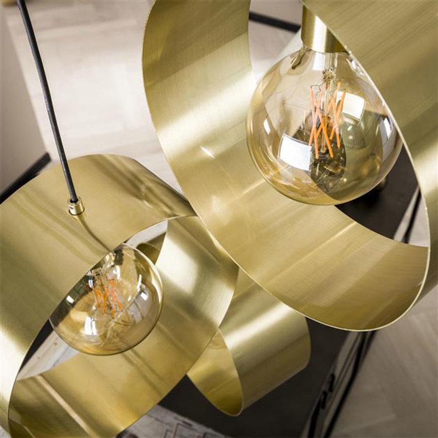 Hanglamp goud Manon metaal getrapt 3-lichts Ø30