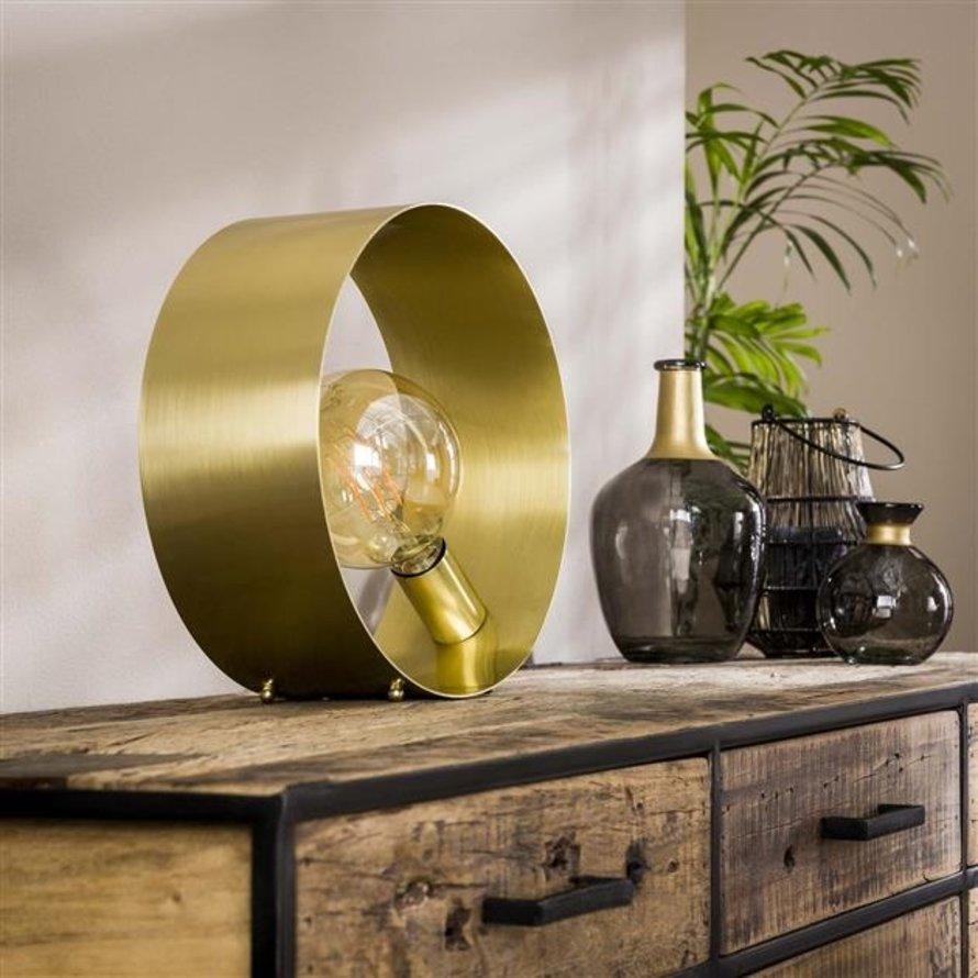 Tafellamp goud Manon metaal 1-lichts Ø30
