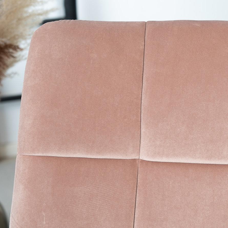 Velvet fauteuil Eevi roze