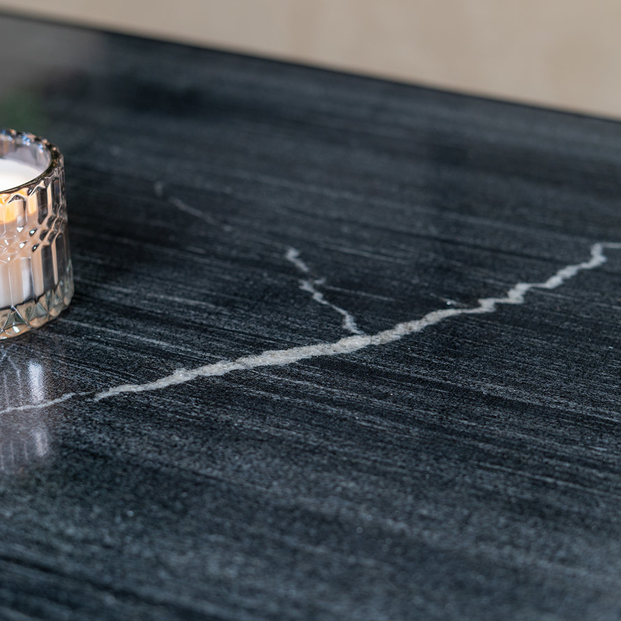 Salontafel marmer Rico 70 x 70 cm zwart