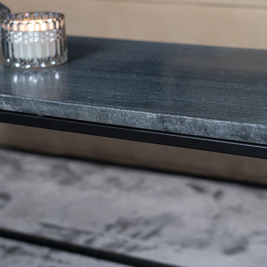 Salontafel marmer Rico 94 x 38 cm zwart