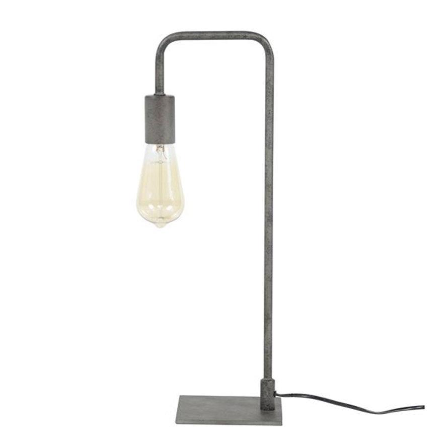 Industriële tafellamp Carli oud zilver