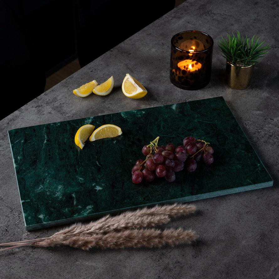 Marmeren dienblad Fauve 30 x 50 cm groen