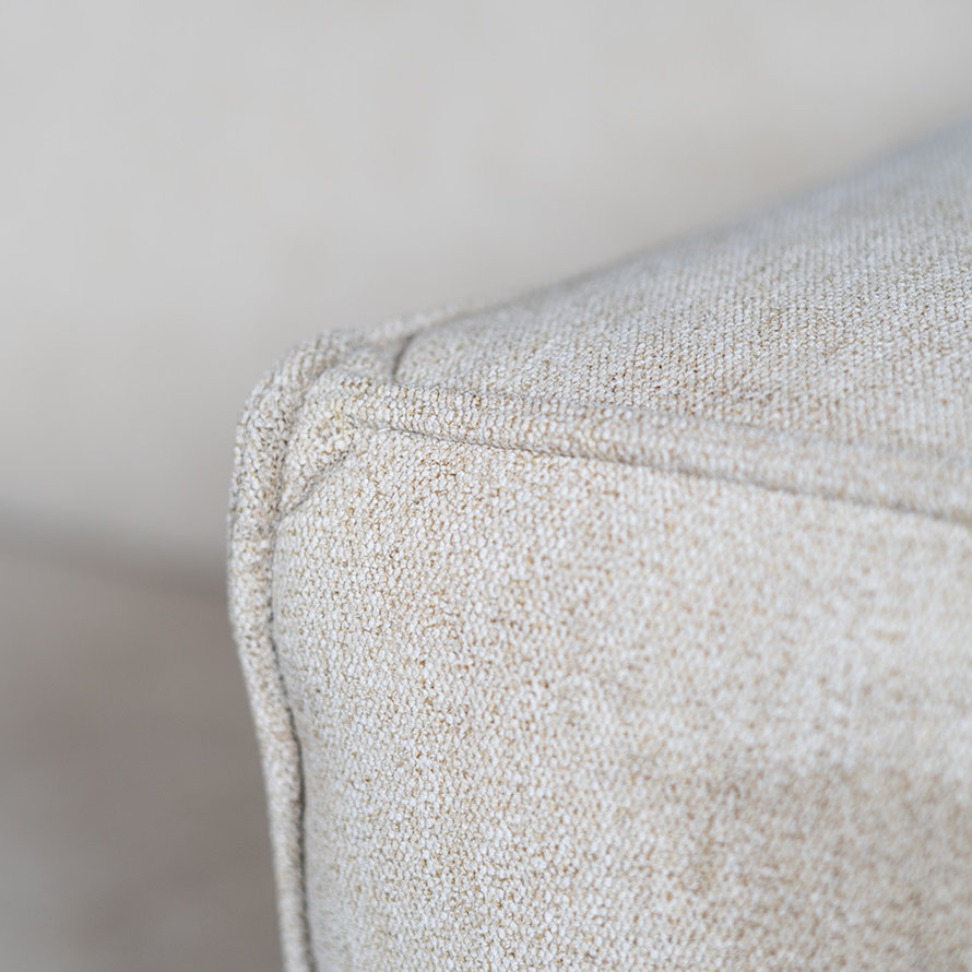 Design bank Memphis 2,5-zits taupe stof gemêleerd