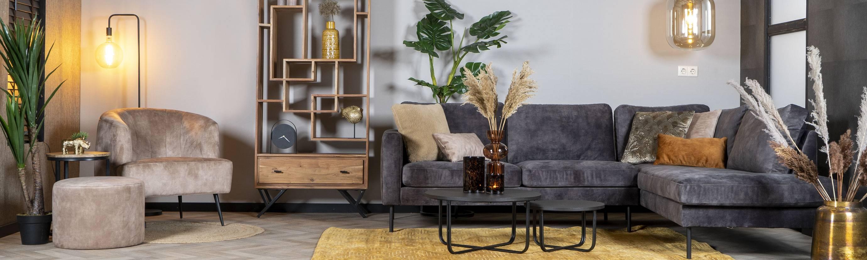 Industriële & Velvet style meubels!