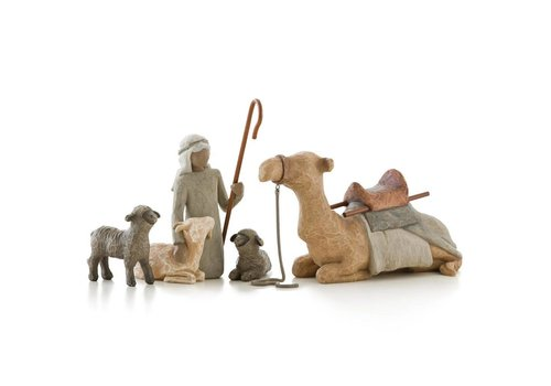 Willow Tree Shepherd and Stable Animals - Willow Tree