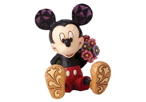 Disney Traditions Mickey Mouse with Flowers Mini